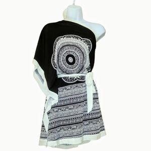 Cristinalove black&white wrap dress/shirt